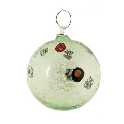 Palla  di Natale rosso in vetro Murano soffiato fatta a mano da fornace venezia