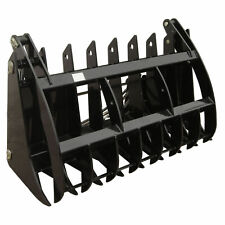 Titan Attachments Root Grapple Rake V2 60 Universal Skid Steer Wide Opening