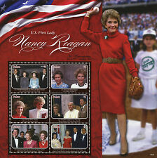 Palau 2016 MNH US First Lady Nancy Reagan 6v M/S Queen Elizabeth II Diana Stamps