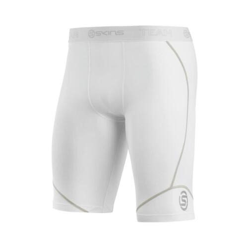 WHITE **AUTHENTIC** Skins DNAmic Team Mens Compression Half Tights