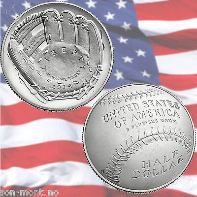 2014 D National Baseball Hall Of Fame Uncirculated CLAD HALF DOLLAR 50c Coin BU