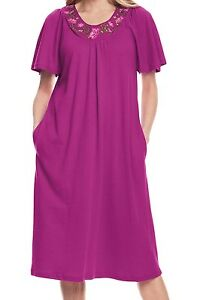 c140738a38 Image is loading Plus-Size-Magenta-Embroidered-Flutter-Sleeve-Short-Knit-