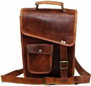 Bag Goat Leather Real Laptop Messenger Vintage Brown Briefcase Genuine Satchel S