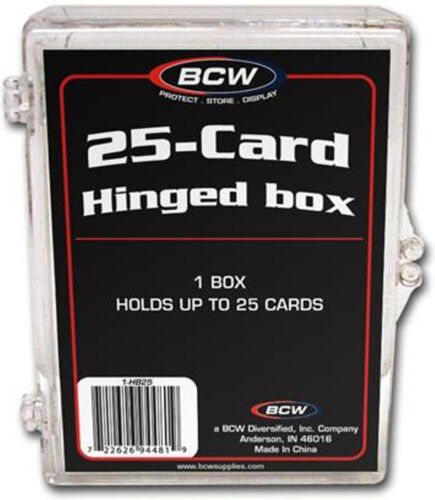 BCW HB25 25 Count Hinged Trading Card Storage Box Case Holder Protect CCG 5