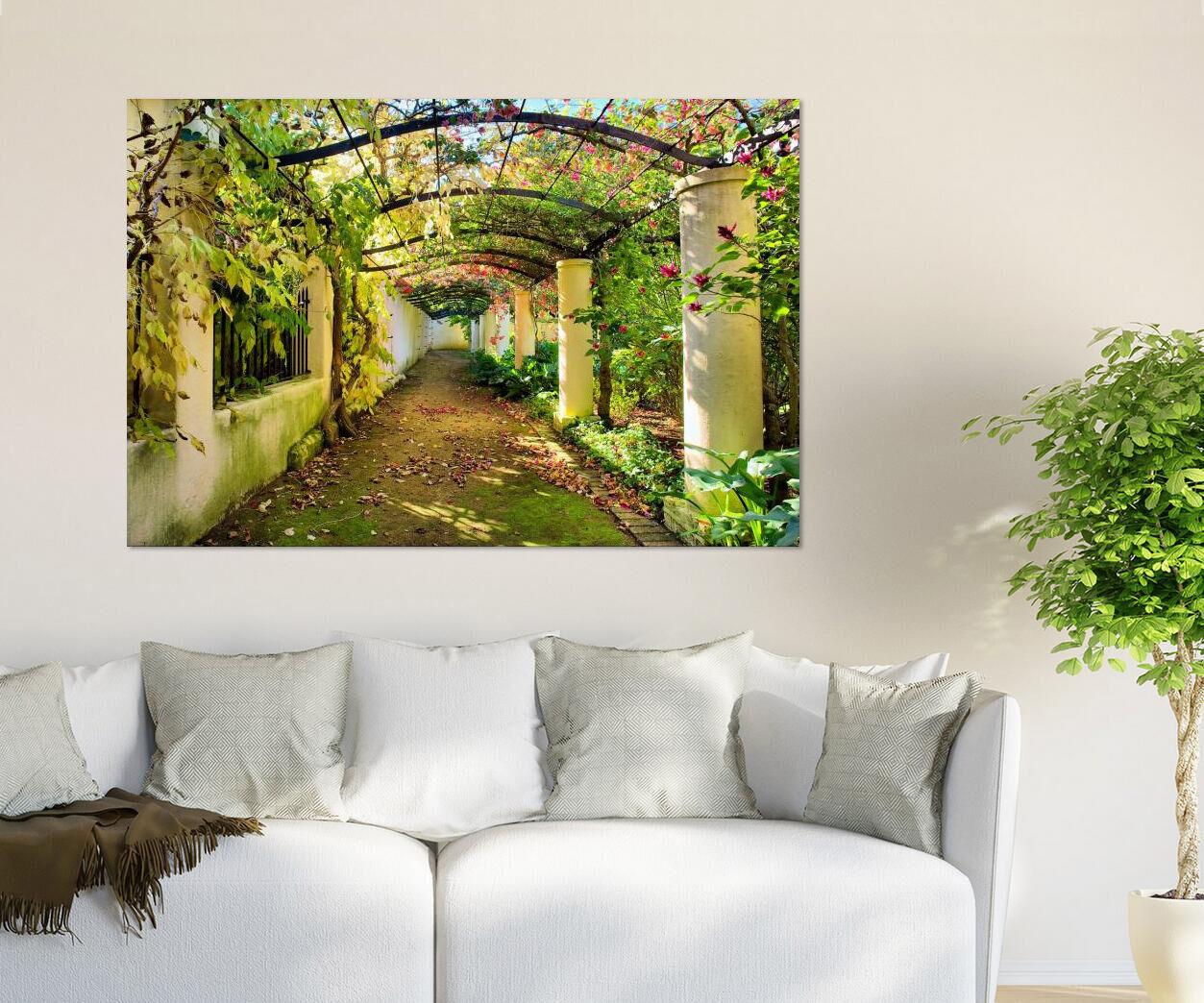3D Grn Hof 24 Fototapeten Wandbild BildTapete Familie AJSTORE DE