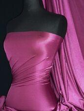 Aubergine 4 way stretch shiny lycra fabric Q54 AUB