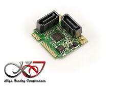 Carte MiniPCIe - SATA 3.0 - 2 PORTS - Mini PCI Express - HALF SIZE