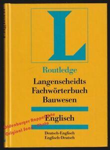 Fachwörterbuch Bauwesen Englisch: Englisch-Deutsch/Deutsch-Englisch  - Routledge