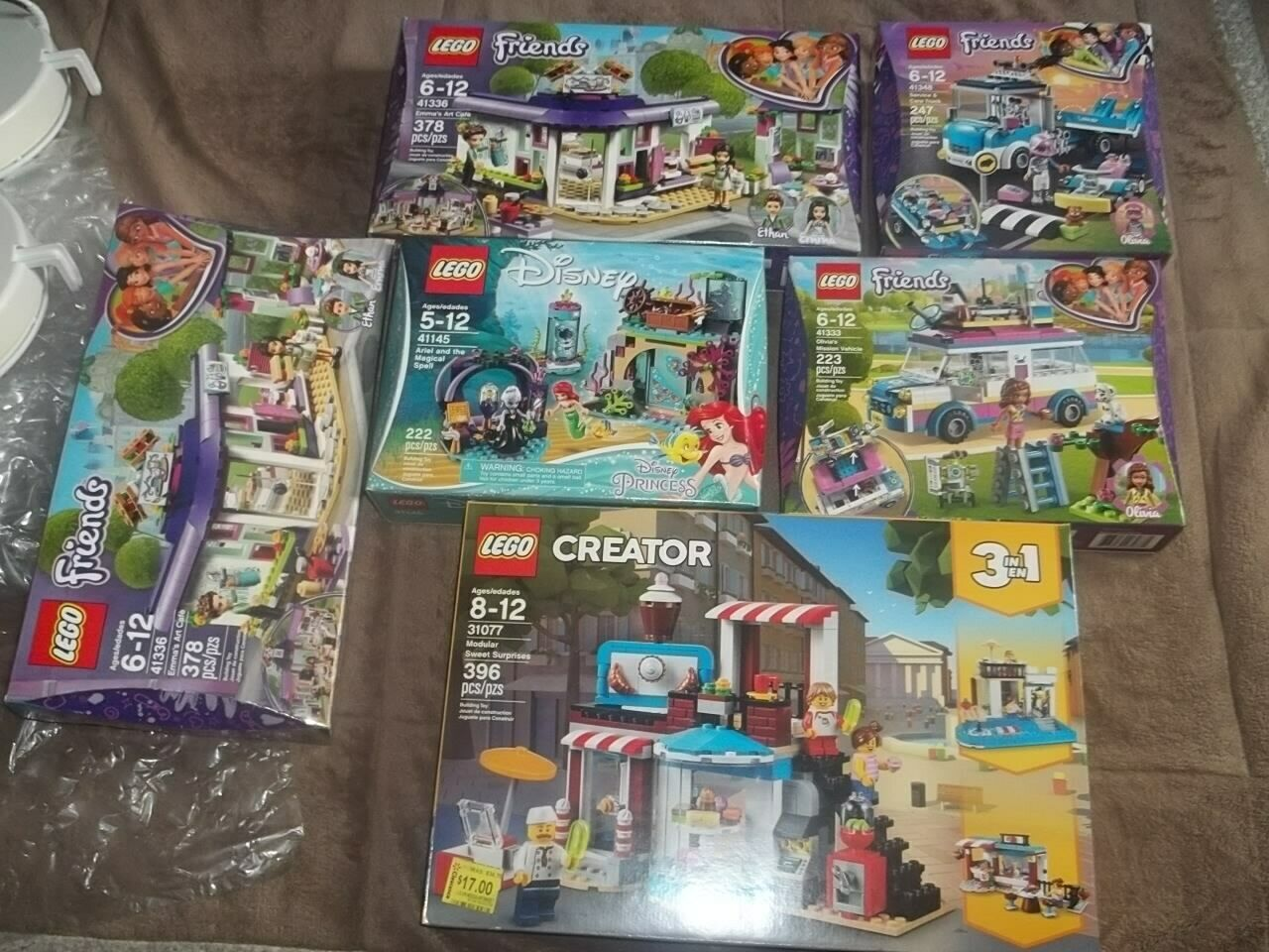 HUGE LOT OF 6 (5 DIFFERENT) LEGO FRIENDS PLUS 41145 41333 41336 x2 41348 31077