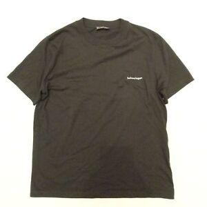 fd068110 Image is loading BALENCIAGA-Oversized-Printed-Cotton-Jersey-T-Shirt-Black-