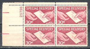 US Stamp (L163) Scott# E21, Mint NH OG, Nice Plate Block, Special Delivery