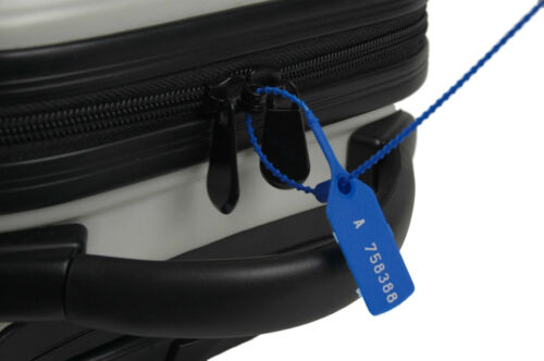 50 x balises de sécurité en plastique bleu liens numérotés pull sécurisé anti-tamper SCEAUX
