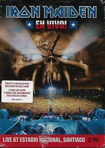 IRON-MAIDEN-En-Vivo-2DVD-Limited-Steelbook-Deluxe-2012-Concert-Metal