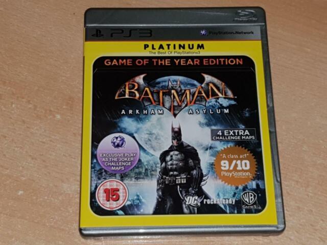 Batman Arkham Asylum Spiel des Jahres Edition ps3 (Platinum) ** FREE UK POST **