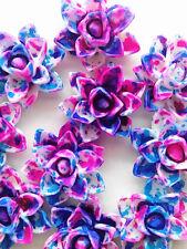 NEW  10pcs blue Resin lotus Flower flatback Appliques For phone/wedding/crafts#