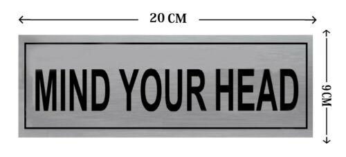 DOOR SIGN Aluminium Plaques Adhesive Signs Sticker Display Card Door Shop