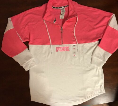 zip Victoria's due tasche B006 mezza Nwt maglione Secret Pink taglia piccola aUHR6q