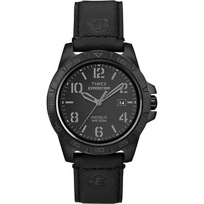 Timex Expedition Unisex   Black Leather Strap & Black Case   Watch T49927