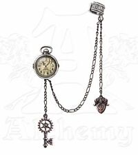 Uncle Albert's Fob Timepiece Steampunk Chain Key Ear Cuff Earring E349 Alchemy