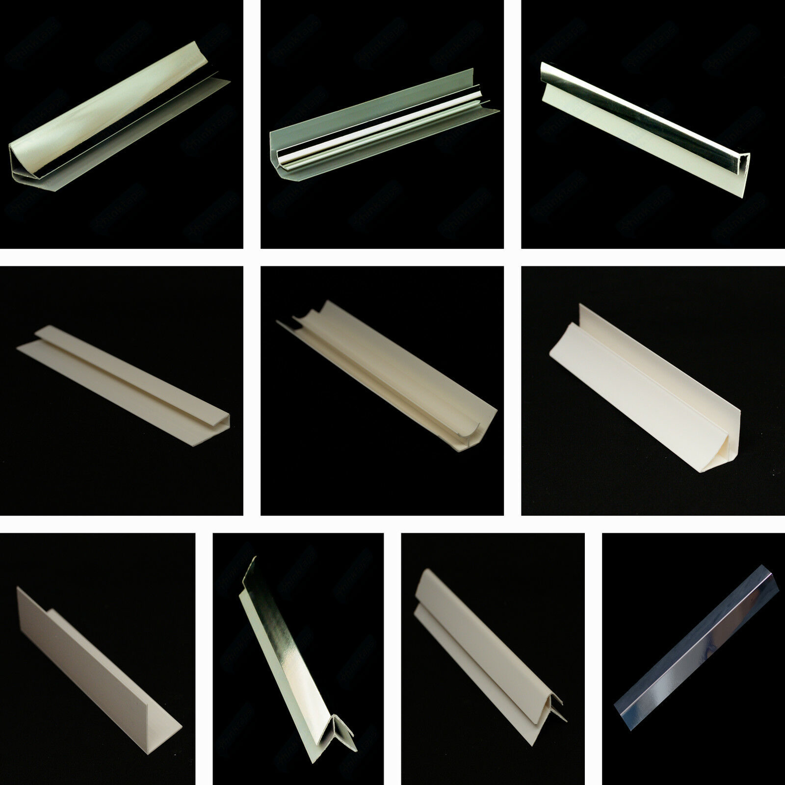 4 Chrome Quadrant Trims for PVC Wall /& Ceiling Panels Chrome PVC Corner Trims