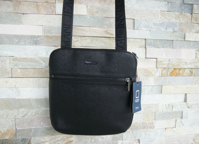 Armani Jeans Handbag Shoulder Bag 932536 Black Previously