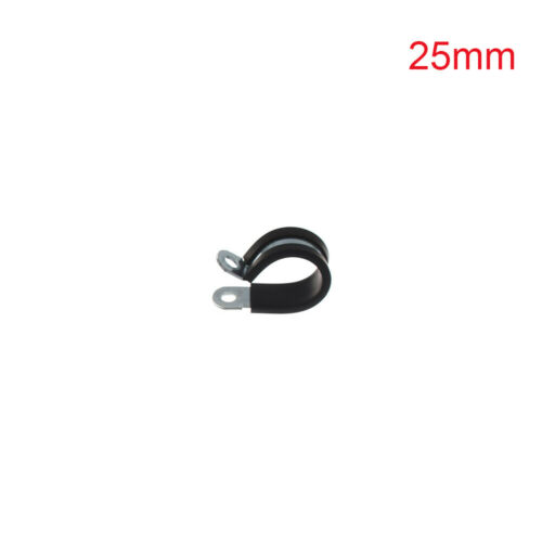 Metal Pipe Mounting Fix Wiring Hose Clamp Rubber Lined P Clips Cable Fasteners
