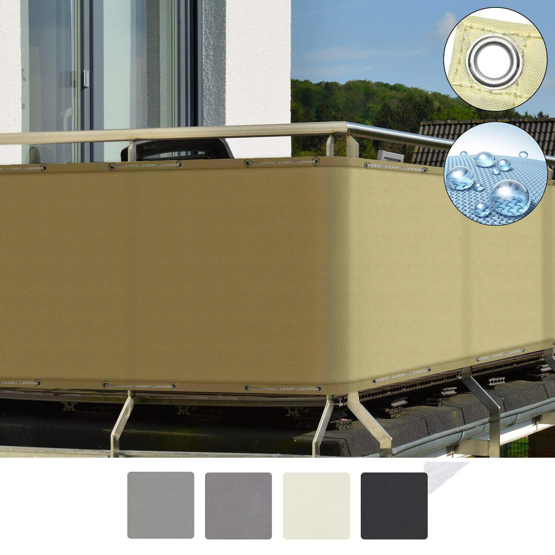 Balkon Sichtschutz Zaun Premium Balkonbespannung Mit Osen