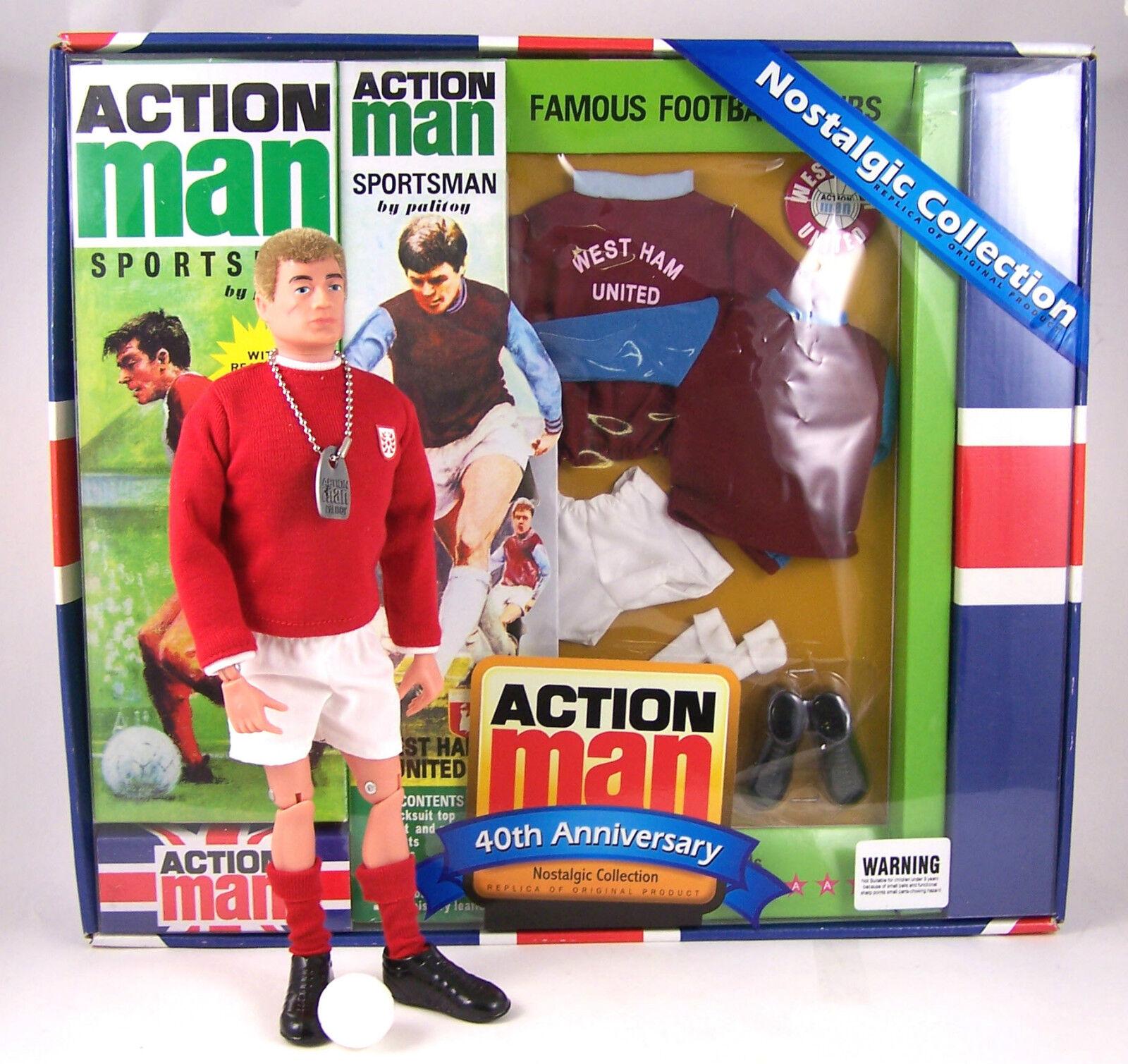 Action Man 40th Ann West Ham United Footballer Set (Includes Figure) AM40-WHAM