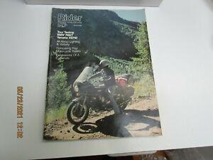 Rider Magazine AUG 1977 - TOUR TESTING BMW R60/7 YAMAHA XS750