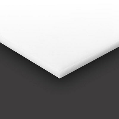 "White Marine Board HDPE Polyethylene Plastic Sheet 1//4/"" x 24/"" x 36/""  Textured"