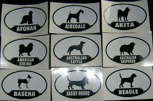 Dog-Stickers-USA-Seller-Popular-amp-unique-breeds-3-5-034-x-5-5-034-Decal-A-R