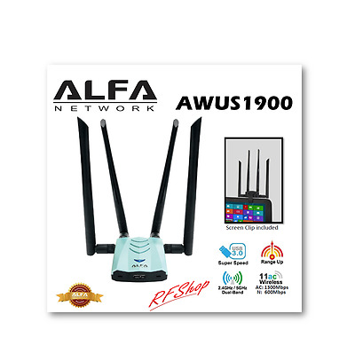ALFA AWUS1900 WiFi 802.11ac Long Range USB Adapter