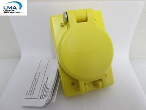 HUBBELL-HBL69W48-WATERTIGHT-LOCKING-RECEPTACLE-30A-250V-2-POLE-3-WIRE-NEW