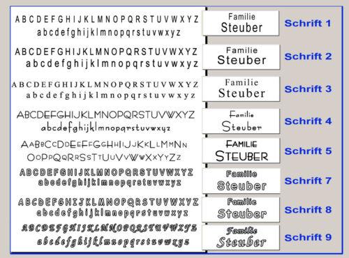 """Unterputzvariante Klingelschild Taster /""""New Line/"""" Gravur Design Kn2"""