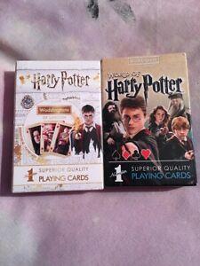 Appris 2 Packs De Harry Potter-personnage De Cartes à Jouer Neuf-afficher Le Titre D'origine