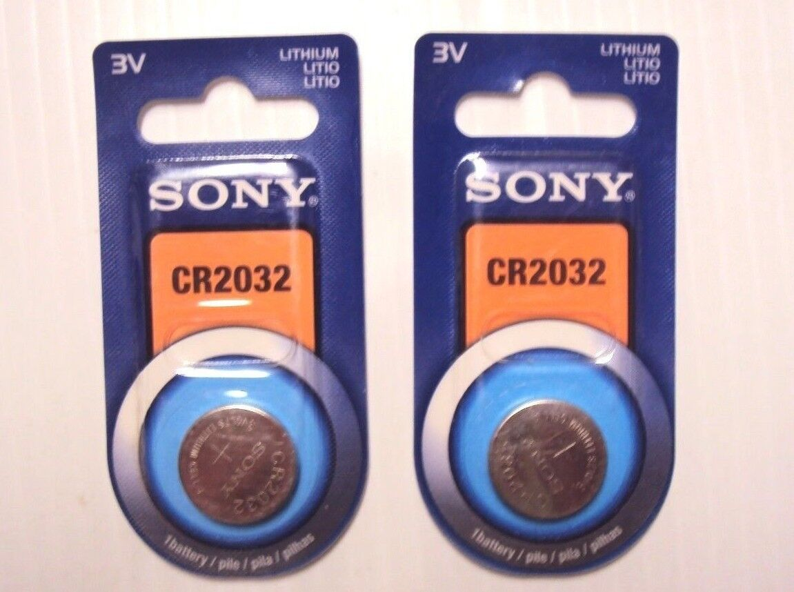 Lot of 2 Sony CR2032 3V Lithium Button/Coin/Cell Battery 1-pk by2023 Genuine NIP