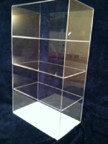 Tabletop Acrylic Display Case Countertop 12 x 7 x 20.5 different shelf spacing