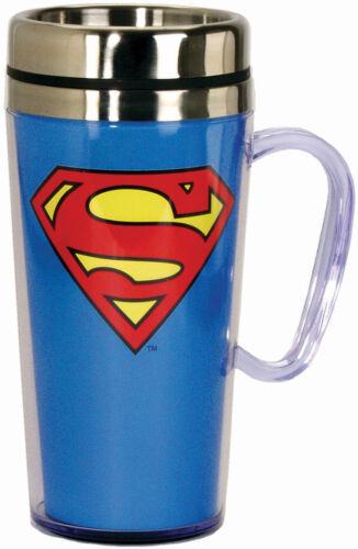 SPOONTIQUES 17235 SUPERMAN LOGO INS TRAVEL MUG