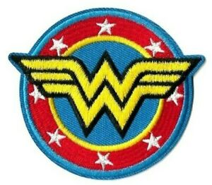 """Wonder Woman - Winged """"W"""" Logo Patch [Embroidered Iron or Sew On] DC Comics"""