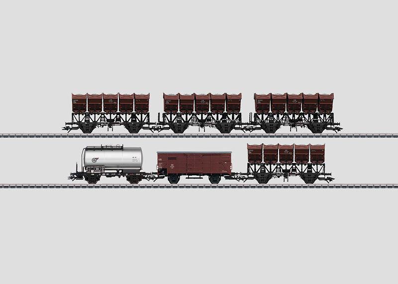 MÄRKLIN 46351 Muldenkippwagen-Set der DB 6-teilig Neu OVP