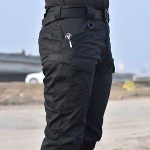 Pantalones Tacticos Militares Cargo Para Hombres Cortos O Largos Ejercito Solido Ebay