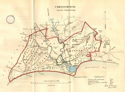 Reform Act Dorset Mudeford Christchurch Town/borough Plan Dawson 1832 Map Meticulous Dyeing Processes