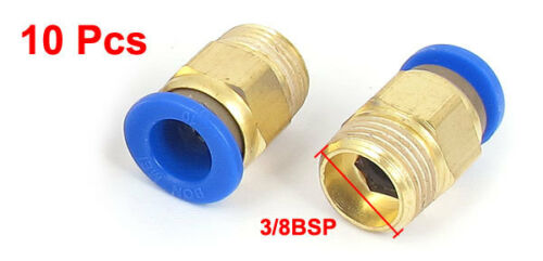 10Pcs 10mm Tube 3//8BSP Male Thread Quick Air Fitting Coupler Connector