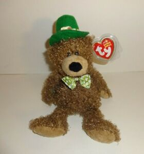 LUCKY O DAY THE ST. PATRICK S DAY IRISH BROWN BEAR GREEN HAT TY ... 5ec820e78454