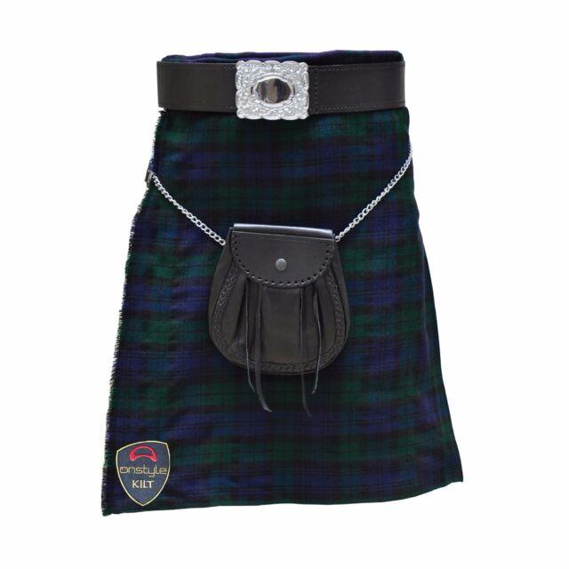 Scottish Highland Active Men Utility Sports Black Watch Tartan Kilts