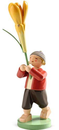 Wendt /& Kühn Blumenkind Blütenbote Junge mit Krokus 5248//20 Erzgebirge Neu