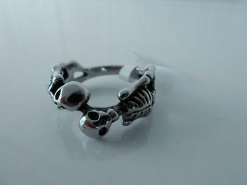 9 NWT 1646 316L Stainless steel ring//Skull ring//Gothic ring//Biker ring #7 8