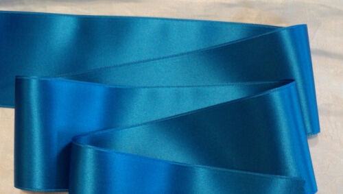 """CARRIBBEAN BLUE 2-3//4/"""" WIDE SWISS DOUBLE FACE SATIN RIBBON"""