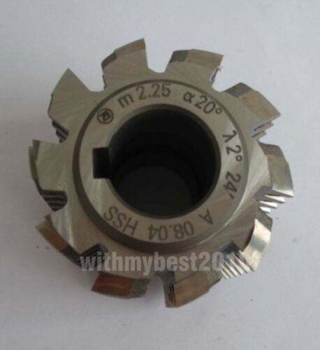 HSS Gear Hob Cutter Module 2.25 Bore 22mm Pressure Angle 20 Degree M2.25 Hob