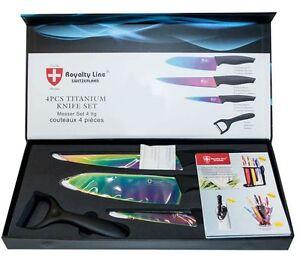 4pcs high quality titanium kitchen knife set royalty line for Gambar kitchen set high quality
